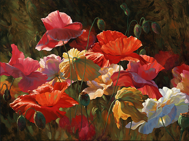 "Poppies in Sunshine - 30"" x 40"" - Acrylic on Canvas Available as Multiple Original"