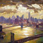 "Splendor of Manhattan - 40"" x 60"" - Oil on Canvas -Available as Multiple Original Limited Edition"