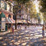 """Cafe Francais - 30"""" x 40"""" - Oil on Canvas Available as Multiple Original"""