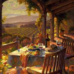 """Wine Country Afternoon - 36"""" x 48"""" - Oil on Canvas - Available as Hand Painted Multiple Original Ltd. Ed"""