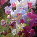 "Orchid Fusion - 40"" x 30"" - Acrylic on Canvas Available as Multiple Original"