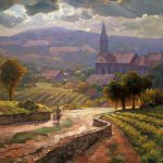 "Alsace Morning - 24"" x 48"" - Oil on Canvas - Available as Hand Painted Multiple Original Ltd. Ed"