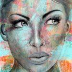 "Juliette - 60"" x 48"" - Acrylic on Canvas"