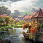 "Brantome on the Dronne 30"" x 40"" - Oil on Canvas"