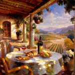 "Tuscany Afternoon- 30"" x 40"" - Oil on Canvas"