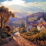 "Alsace Vista - 36"" x 48"" - Oil on Canvas"