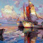 "Cherbourg Coast - 34"" x 48"" - Oil on Canvas"
