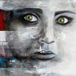 Eyes of Sharbat- 48 x 36 - Acrylic on Canvas