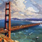 "Grandeur of the Golden Gate - 34"" x 68"" - Oil on Canvas - Available as Multiple Original"