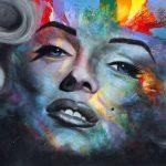 "MARILYN - 48"" x 60"" - Acrylic on Canvas Available as Hand Painted Multiple Original Ltd. Ed."