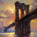 "Brooklyn Bridge- 48"" x 48"" - Oil on Canvas"