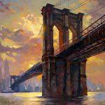 "Brooklyn Bridge- 48"" x 48"" - Oil on Canvas"