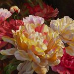 "June Peonies - 30"" x 40"" - Acrylic on Canvas Available as Multiple Original"