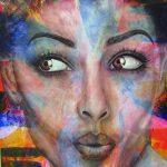 "Amazement - 60"" x 48"" - Acrylic on Canvas"