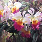 "Cattleya Magnificent - 30"" x 40"" - Acrylic on Canvas Available as Multiple Original"