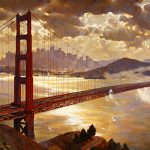 "Golden Gate Splendor - 34"" x 68"" - Oil on Canvas Oil on Canvas Available as Multiple Original"