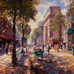 "Porte St. Denis - 30"" x 40"" - Oil on Canvas Available as Multiple Original"