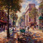 "Porte St. Denis - 30"" x 40"" - Oil on Canvas Available as Multiple Original"
