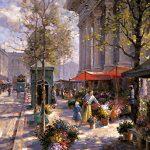 """Marchand de Fleurs - 48"""" x 36"""" - Oil on Canvas Available as Multiple Original"""