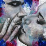 Kiss Me Again 48 x 48 Acrylic On Canvas