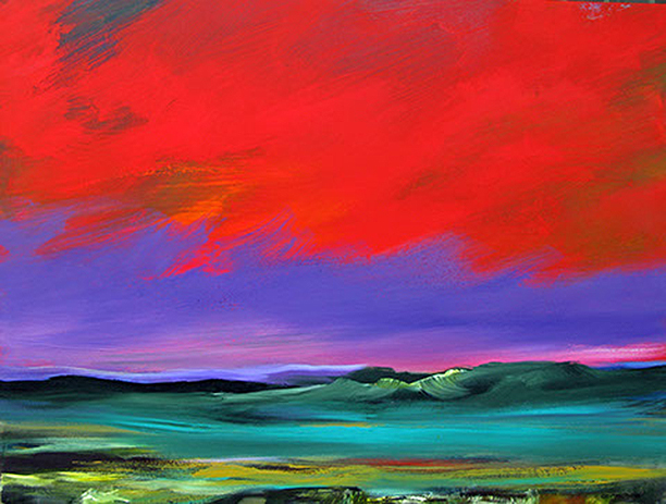 """Purple and Red - 30"""" x 40"""" - Acrylic on Canvas"""