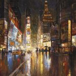 "A Night in Times Square - 40"" x ""60 - Acrylic on Canvas - Available as Multiple Original Limited Edition"