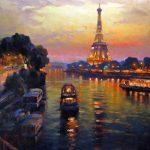 "Saturday Night in Paris - 36"" x 48"" - Acrylic on Canvas"