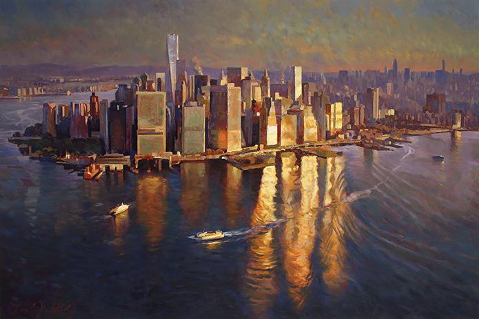 "Sunrise Over Manhattan - 40"" x 60"" - Acrylic on Canvas Available as Multiple Original Limited Edition"