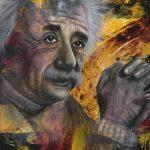 Genius-Albert Einstein-60x48 - Acrylic on Canvas Available as Hand Painted Multiple Original Ltd. Ed.