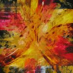 "15 ABSTRACT-#3535 - 60"" x 48"" Acrylic on Canvas"