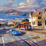 "Cable Car to the Bay - 40"" x 60"" - Oil on Canvas -Available as Multiple Original Ltd. Edition"