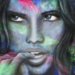 "INNOCENCE - 48"" x 60""- Acrylic on Canvas- Available as Hand Painted Multiple Original Ltd. Edition"